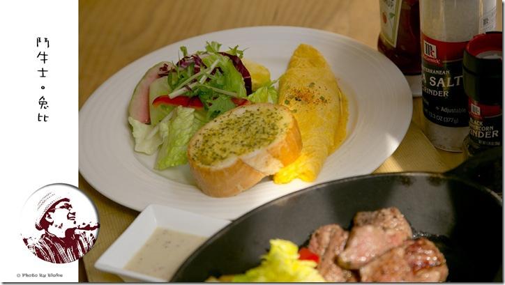 鬥牛士Brunch-早午餐系列-骰子牛肉(6盎司)+奶油歐蕾炒蛋