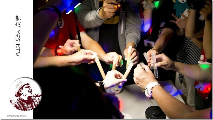 台中唱歌便宜-凱悅YES KTV-試管特調酒