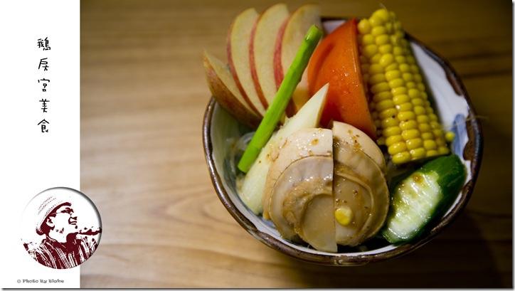 扇貝和風生菜沙拉-鵝房宮美食-新一點利黃昏市場