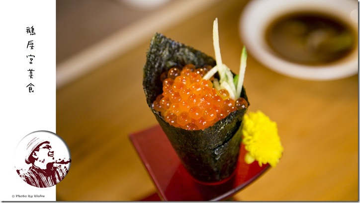 鮭魚卵手捲-鵝房宮美食-新一點利黃昏市場