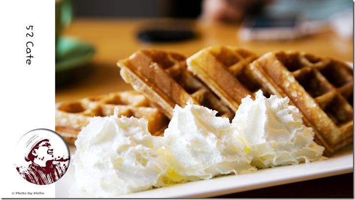 蜂蜜奶油鬆餅-52Cafe.咖啡.輕食-立體小熊拉花