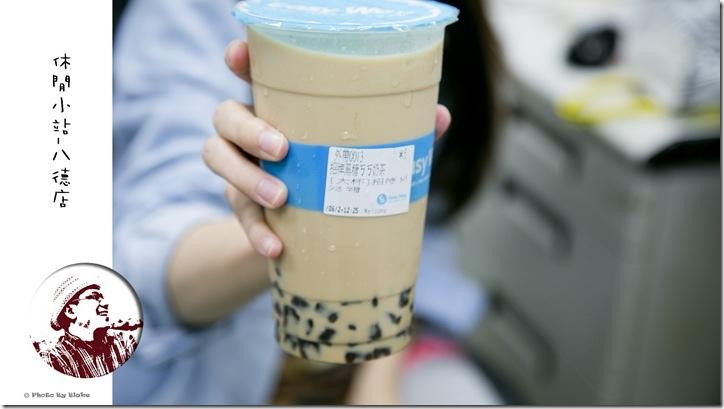 休閒小站(台北八德店)-招牌黑糖ㄎㄎ奶茶(L)