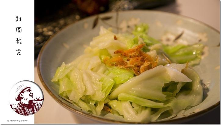 櫻花蝦高麗菜-宜蘭美食-壯圍穀倉