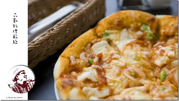 海鮮芙卡夏批薩-桃園美食-品勤料理航線-鐵道餐廳