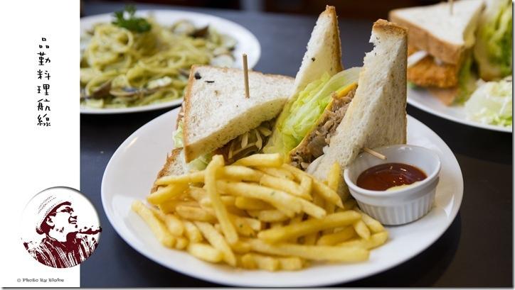 費城起司牛肉三明治-桃園美食-品勤料理航線-鐵道餐廳