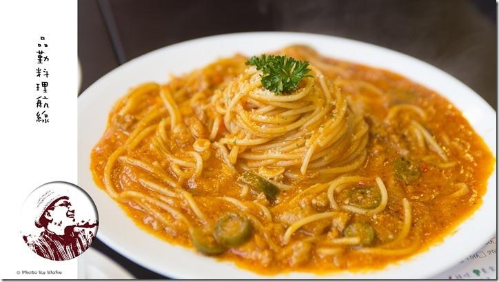 墨西哥辣肉醬麵-桃園美食-品勤料理航線-鐵道餐廳