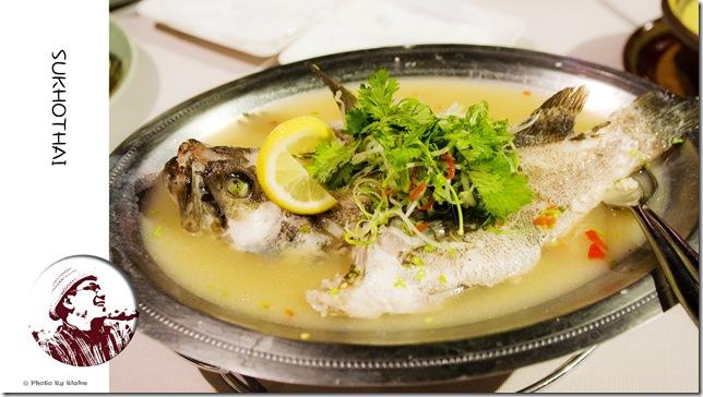 清蒸檸檬石斑-喜來登SUKHOTHAI(素可泰)泰式餐廳