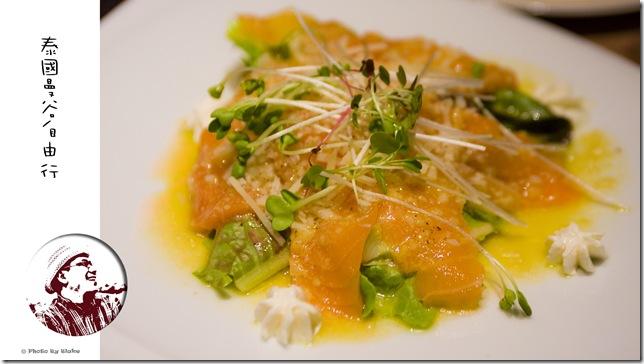 Lemon vinaigrette Salmon Carpaccio - WINE I LOVE YOU @ CDC