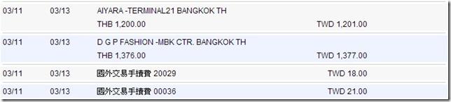 泰國曼谷自由行-信用卡刷卡